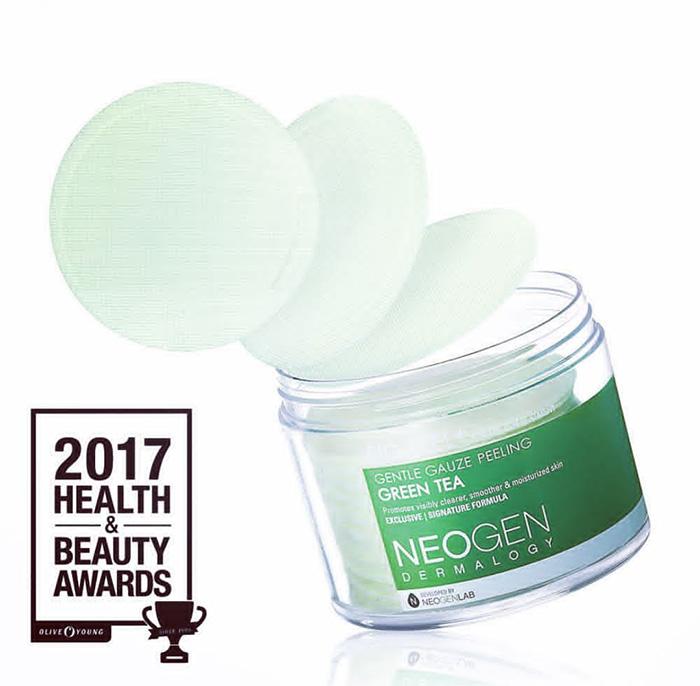 neogen-green-tea-gauze-peeling-pads