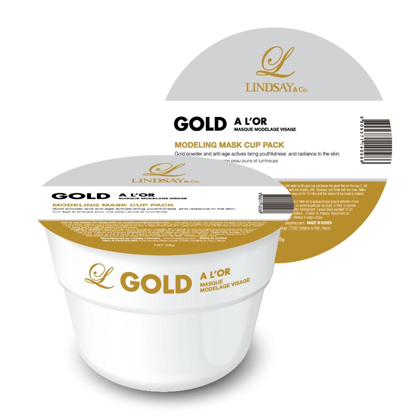 Lindsay Gold Modeling Mask Cup