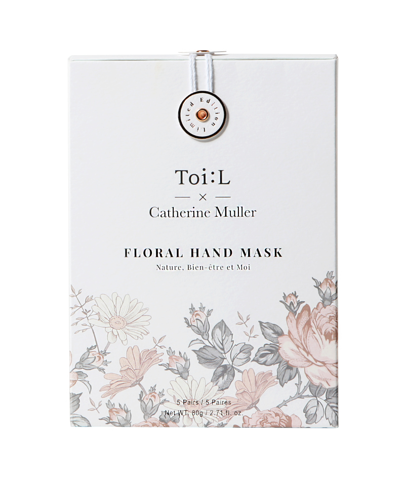 ToiL x Catherine Muller Floral Hand Mask Box