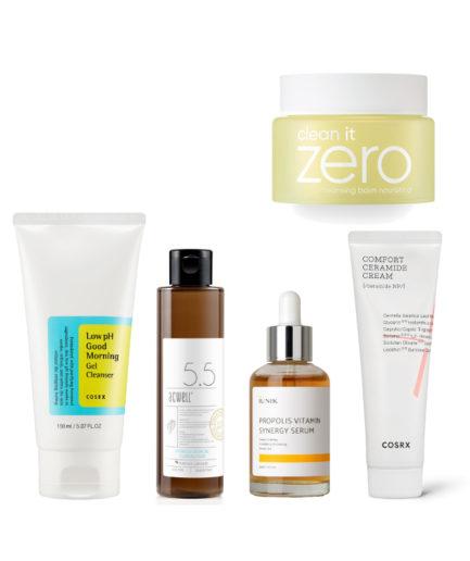5 steg hudpleiesett tørr hud