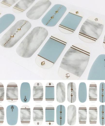 malrang nail mint marble