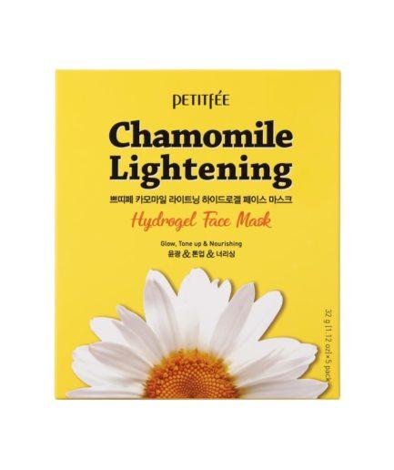 Petitfee Chamomile Lightening Hydrogel Face Mask Boks