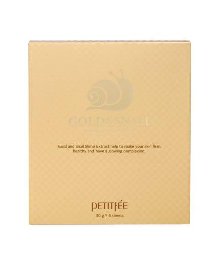 Petitfee Gold & Snail Hydrogel Sheet Mask Boks