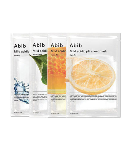 Abib_Mild_acidic_Ph_sheetmask_kit_koreansk_hudpleie_skinsecret