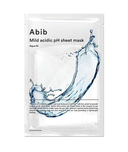abib_mild_acidic_ph_sheet_mask_aqua_fit_skinsecret_koreansk_hudpleie