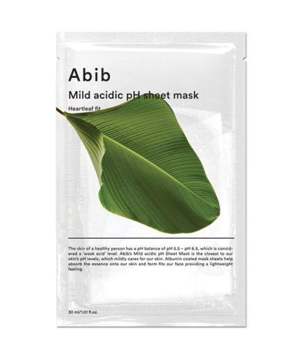 abib_mild_acidic_ph_sheet_mask_heartleaf_fit_skinsecret_koreansk_hudpleie