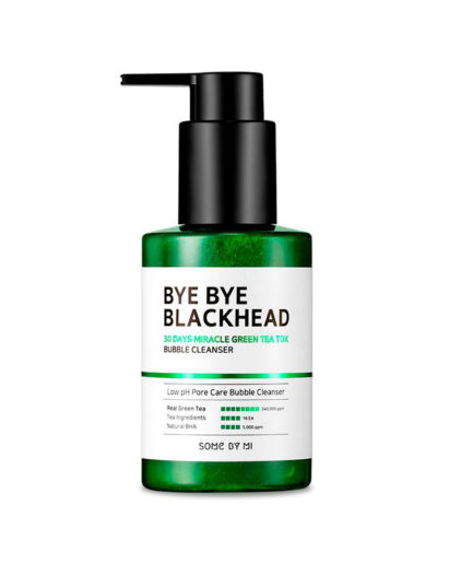 some_by_mi_bye_bye_blackhead_30_days_miracle_green_tea_tox_bubble_cleanser_skin_secret_koreansk_hudpleie