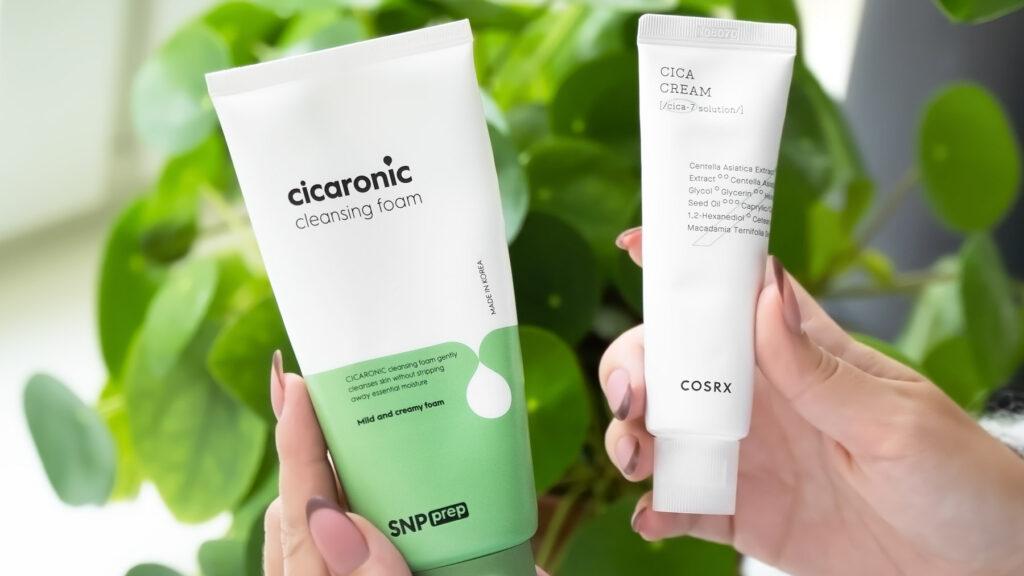 rosacea-irritert-hud-hudpleierutine-snp-cicaronic-cosrx-cica-cream-koreansk-hudpleie